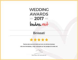 Premio 2017 Finca Binissati
