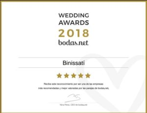 Premio 2018 Finca Binissati